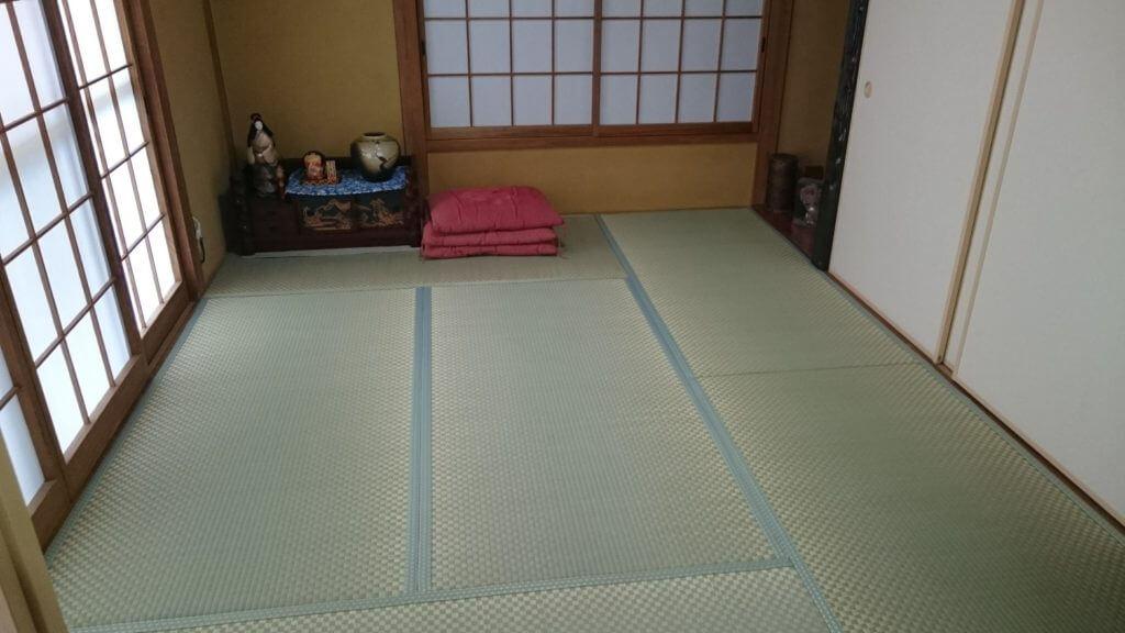 畳み表替え市松