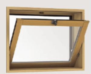 内開き窓 内倒し窓 網戸